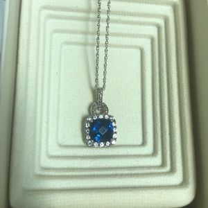 Jewelry - New Blue Sapphire Sterling Silver chain necklace